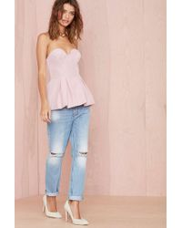 Nasty Gal Finders Keepers Hearts On Fire Bustier Top - Lyst