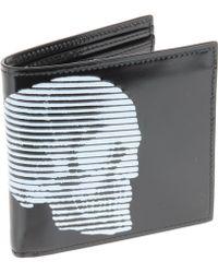 Alexander McQueen Black Wallets - Lyst