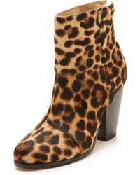 Rag & Bone Classic Newbury Booties - Leopard - Lyst