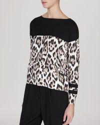 Karen Millen Sweater - Leopard Print - Lyst