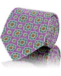 Petronius - Men's Floral-medallion-pattern Necktie - Lyst