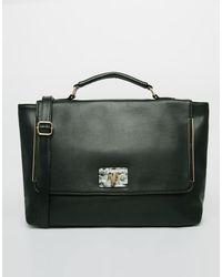Asos Handheld Bag with Marbled Lock - Lyst