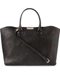 Burberry Grained Leather Dewsbury Tote 28 - Lyst