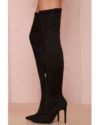 Nasty Gal Jeffrey Campbell Superfreak Leather Thigh High Boot - Lyst