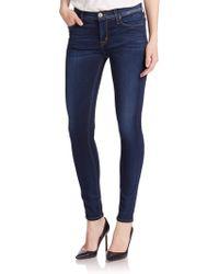 Hudson Nico Mid-Rise Super Skinny Jeans blue - Lyst