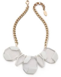 Adia Kibur - Large Crystal Necklace Clear - Lyst