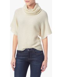 7 For All Mankind | Cowl Neck Sweater In Cream | Lyst