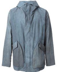 Giorgio Armani Hooded Tie Dye Parka - Lyst