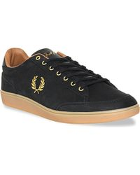 Fred Perry Hopman Leather Trainers - For Men - Lyst