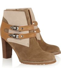 See By Chloé Color-Block Suede And Leather Boots - Lyst