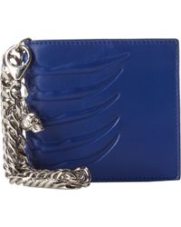 Alexander McQueen Classic Wallet with Chain - Lyst