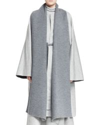The Row Noden Two-tone Wool Cape - Lyst