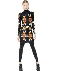 KTZ - Patches Faux Nappa Leather Dress - Lyst