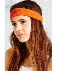 Nike - Swoosh Headband in Orange - Lyst