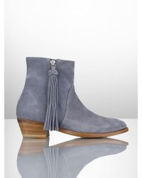 Ralph Lauren Collection Calf-suede Ninette Boot - Lyst