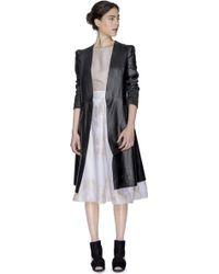 Sandra Weil | Master Black Leather Coat | Lyst