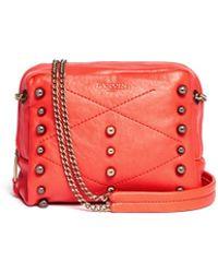 Lanvin 'Baby Sugar' Metal Pearl Leather Crossbody Bag - Lyst
