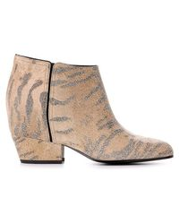 Golden Goose Deluxe Brand Animalier Print Ankle Boots - Lyst