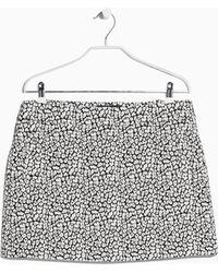 Mango Jacquard Cotton Miniskirt - Lyst