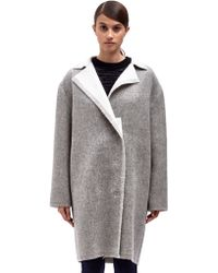 Lanvin Gray Womens Coat - Lyst