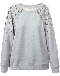 MICHAEL Michael Kors Cut Out Detail Sweatshirt - Lyst