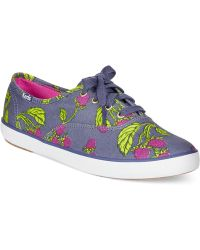Keds Women'S Champion Printed Oxford Sneakers - Lyst