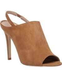 Diane von Furstenberg | Violet Suede Open-Toe Sandals | Lyst