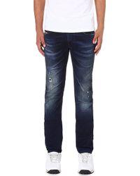 Diesel Thavarne Skinnyfit Tapered Jogg Jeans Blue - Lyst