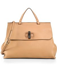 Gucci Bamboo Daily Leather Top Handle Bag - Lyst
