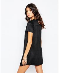 Mango | Suedette Tie Front Dress | Lyst