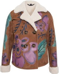 Burberry Prorsum Hand Painted Cropped Sheep Skin Jacket - Lyst