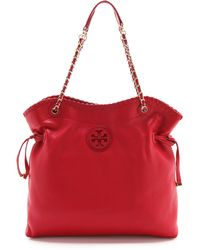 Tory Burch Marion Slouchy Tote - Black - Lyst