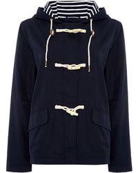 Dickins & Jones Long Sleeve Duffle Mac Jacket Coat blue - Lyst