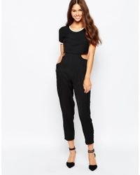 Harlyn - Cut Out Jumpsuit With Short Sleeves - Lyst