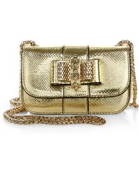 Christian Louboutin Sweety Charity Metallic Karung Crossbody Bag gold - Lyst
