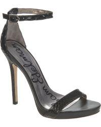 Sam Edelman Eleanor Leather Stilettos - Lyst
