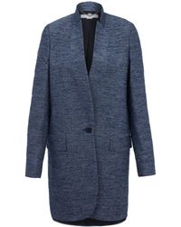 Stella McCartney Blue Bryce Textured Coat - Lyst