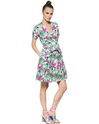Antonio Marras Floral Print Ruffled Cotton Poplin Dress - Lyst