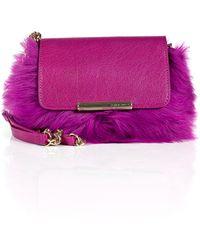 Emilio Pucci Leather/Fur Mini Newton Clutch - Lyst