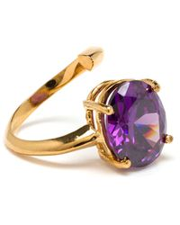 Bijules Gold Phalange Cocktail Ring with Amethyst - Lyst