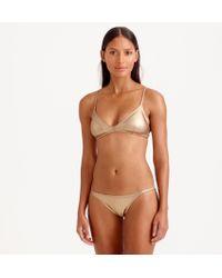 J.Crew Metallic Gold Bandeau Bikini Top - Lyst