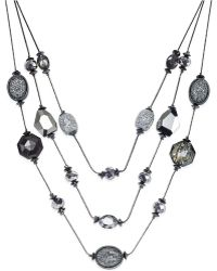 Style & Co. - Hematite-tone Three-row Illusion Necklace, Only At Macy's - Lyst