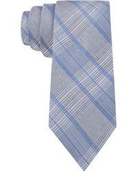 Calvin Klein Indigo Multi-plaid Skinny Tie - Lyst