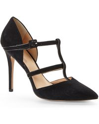 Charles By Charles David Black Pano Caged Pumps - Lyst