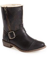 Koolaburra 'Duarte' Shearling & Leather Engineer Boot - Lyst