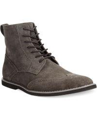 Calvin Klein Fields Suede Wing-tip Boots - Lyst