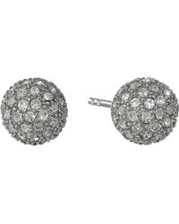 Fossil Pave Ball Studs Earrings - Lyst