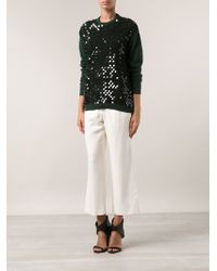 Cedric Charlier Sequined Sweater - Lyst