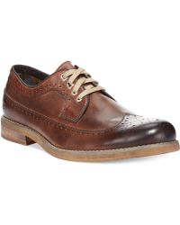 Bed Stu Bed Stu Beacon Wing-tip Oxfords - Lyst
