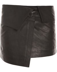 Isabel Marant Hutt Short Leather Kilt - Lyst